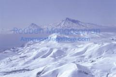 WInter on Aragats with Ararat on backdrop
