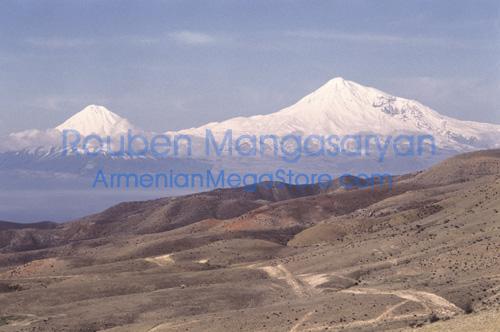 Summer on Aragats with Ararat on backdrop